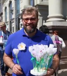 Михаил Пореченков принял участие в благотворительной акции «Белый цветок»
